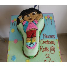 Dora The Explorer Character Cake