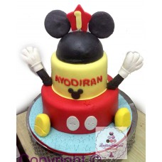 Two Tier Round Mickey Mouse
