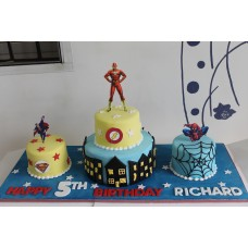 Trio of Supper Hero Cake