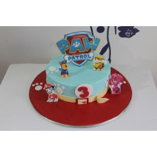 Buttercream Paw Patrol Cake with Edible