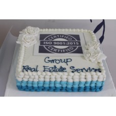 Square Vanilla Sponge with edible picture