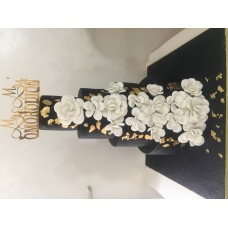 Five tier wedding cake